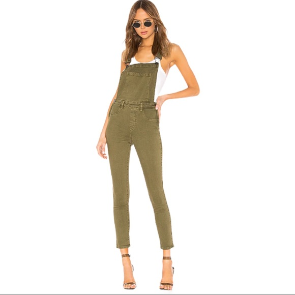 Blank nyc fitted skinny overalls